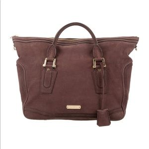 Burberry Kirley Luggage grainy leather plum bag